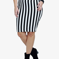 Vertical Striped Fold Over Skirt | Torrid