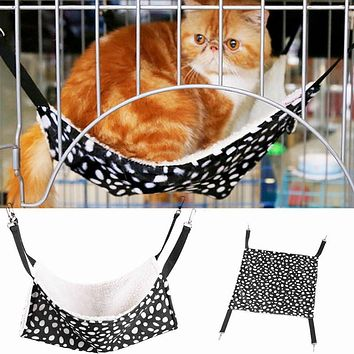 Polk Dot Polyester Pet Cat Cage Hammock Small Bed Cover Bag
