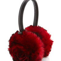 Rabbit Rosette Earmuffs, Red