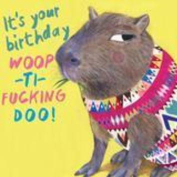 Forgetful Capybara Greeting Card