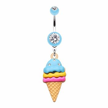 Triple Treats Ice Cream Belly Button Ring