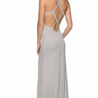 Laura Open Back Maxi Dress - Black