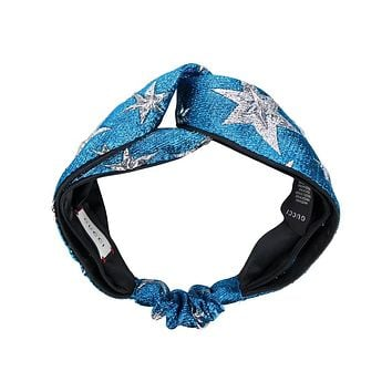 GUCCI Stereoscopic Bright Silk Jacquard Headband