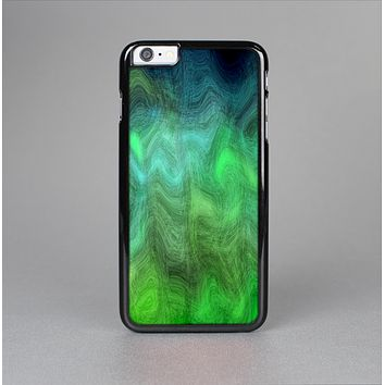 The Vivid Green Sagging Painted Surface Skin-Sert Case for the Apple iPhone 6 Plus
