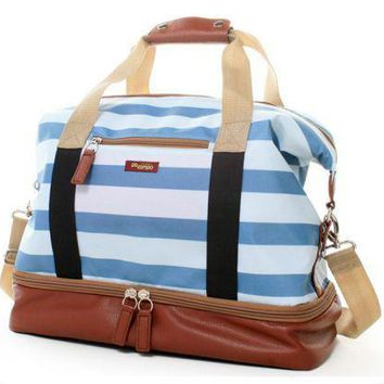 Midway Weekender Sky Stripes Tote Bag