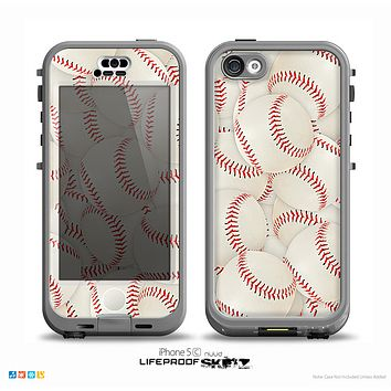 The Baseball Overlay Skin for the iPhone 5c nüüd LifeProof Case