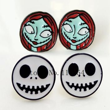 20 pairs  Alloy Enamel Lovely Cartoon  Nightmare Before Christmas  Earrings  Jewelry  Stud Earring  EE-20