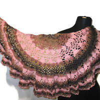 Upside down hearts caplet, ruffled scarf