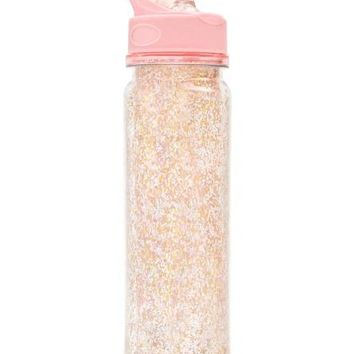 Glitter Water Bottle in Pink Stardust
