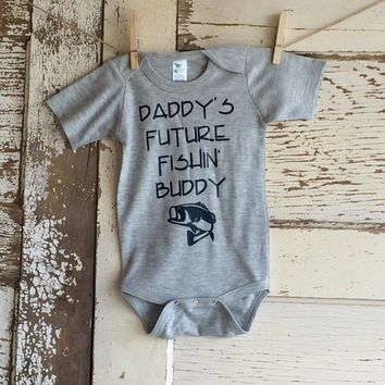Daddy's Fishin' Buddy Infant Onesuit