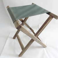 camping chair vintage outdoor backpacking folding stool
