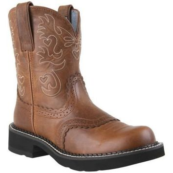 Ariat Ladies' Fatbaby Boot, Russet Rebel Brown - 721166099 | Tractor Supply Company