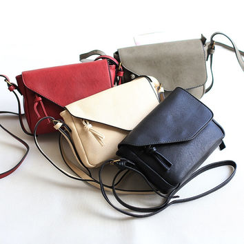 Autumn One Shoulder Casual Simple Design Vintage Bags Messenger Bags [4915808004]