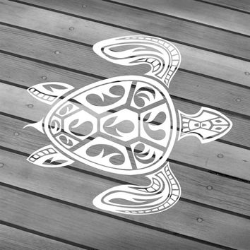 Turtle decal Turtle sticker Turtle car decal Turtle wall decal Turtle laptop Tribal turtle Hawaiian turtle Hawaii turtle Turtle window decal