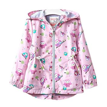 Pink Owl Trees Kid Child Baby Toddler New Born Infant Winter Snow Coat