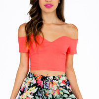 Sweetie Off Shoulder Crop Top $25