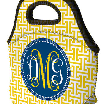 Lunch Tote - Greek T's Blue & Gold