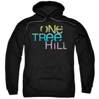 ONE TREE HILL/COLOR BLEND LOGO-ADULT PULL-OVER HOODIE-BLACK