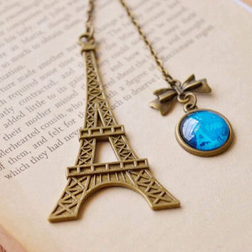 Eiffel Tower Metal Bookmarks For Book Creative Item Kids Gift Korean Stationery