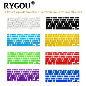 "French UK/EU Clavier AZERTY Silicone Keyboard Cover Skin for Macbook Pro 13"" 15"" 17"" Air 13 inch Protective Keyboard Stickers"