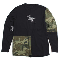 Surplus Camo Longsleeve T-Shirt Black
