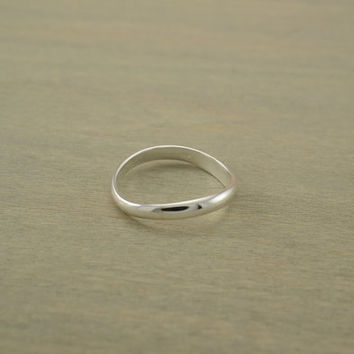 sterling silver plain THUMB ring
