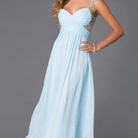 Floor Length Sleeveless V-Neck Dress