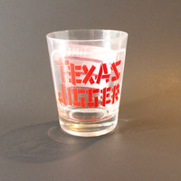 EARLY TIMES BOURBON Texas Size Jigger glass,vintage Bourbon glass,Kentucky Bourbon glass,Early times Distillery,Texas Jigger,vintage Barware