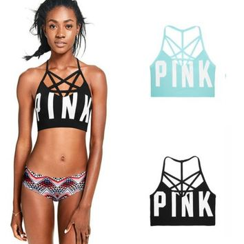Victorias Secret PINK High-Neck Crop Bralette