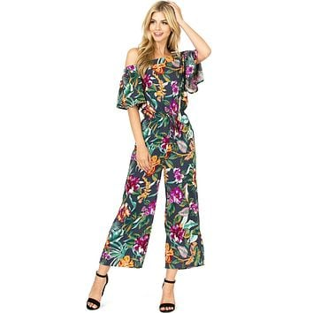 Hibiscus Bloom Culotte Jumpsuit