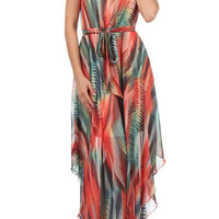 Palms Flow Maxi Dress