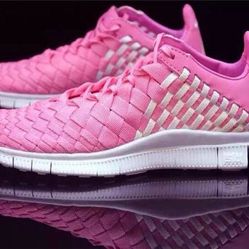 """Nike"" Free Lnneva Woven Tech SP Nike barefoot 5.0 Hand made Weave Pink Angel Sports S"