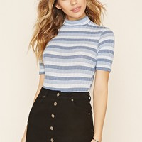 Striped Ribbed Knit Bodysuit