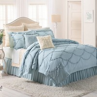 LC Lauren Conrad Isabel 3-pc. Comforter Set - Full/Queen (Blue)