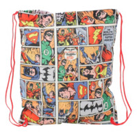 DC Comics Batman And Superman Foldaway Cinch Back Sack