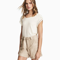 Linen-blend Shorts - from H&M