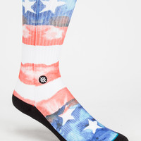 Stance U.S.A. Classic Crew Mens Socks Red One Size For Men 26703830001
