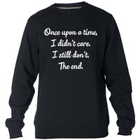Once Upon A Time Sweatshirt Sweater Crewneck Men or Women Unisex Size