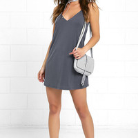Great Beyond Washed Blue Shift Dress