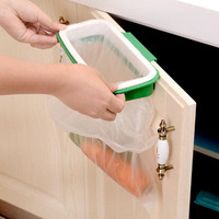 Kitchen cupboard door hanging trash rack rubbish Bag holder