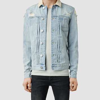 Mens Ridgeway Denim Jacket (Light Indigo) | ALLSAINTS.com