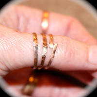 Copper Rings Set of 3, Rustic Jewelry, Handmade unique Design Rings