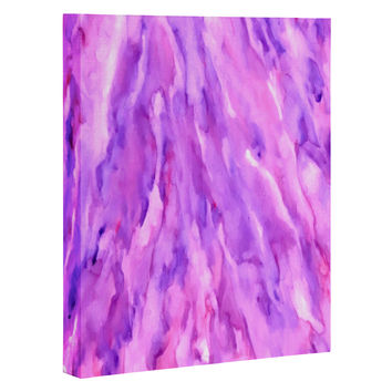Rosie Brown Magenta Marble Art Canvas