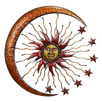 Metal Sun Moon Wall Decor Makes The Room Feel Natural
