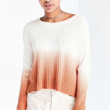 Silence + Noise Dip-Dye Rib Pullover Sweater - Urban Outfitters
