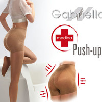 Classic Push Up 20 Tights in Beige by Gabriella Hosiery