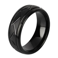 Men's Tungsten Ring/ Wedding Band (rg9)