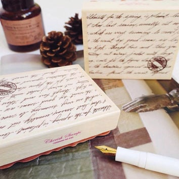 Cherish HANDWRITING rubber stamp by kodomo no kao