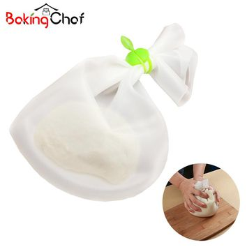 Big Size Silicone Pizza Dough Maker Roller Bag Mixer Cookie Dough Homemade Baking Pastry Tools Kitchen Dining ba Bakeware Items