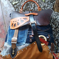 Steampunk Leather Bag Leather Backpack Women Rucksack Steampunk  Leather backpack,Backpack bag, brown leather backpack, leather back pack
